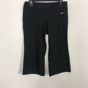 Nike Dri-Fit Black Cropped Yoga Pants